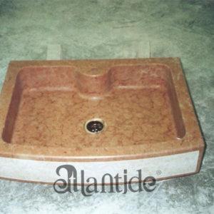Das Waschbecken Feststoff in Rot Vr - Ref. 052