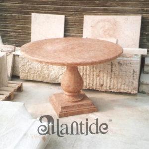 Tavolo in marmo Rosso Verona - Rif. 059
