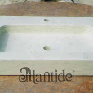 Das Waschbecken in Biancone solide - Ref. 054