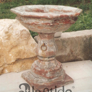 holy water font in Red France - Ref. 031